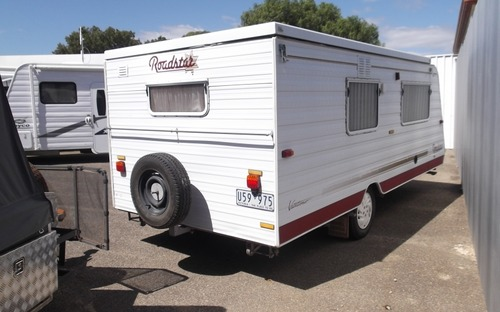 Back of Roadstar Vacationer Poptop Caravan