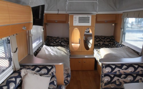 Inside of Avan Rhys Poptop Caravan