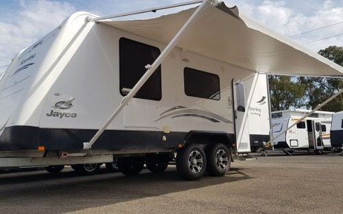 2012 Jayco Sterling outback caravan awning