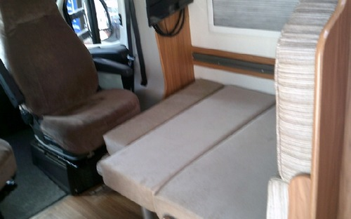Second hand Avan Ovation M6 Motorhome dinette converted to bed
