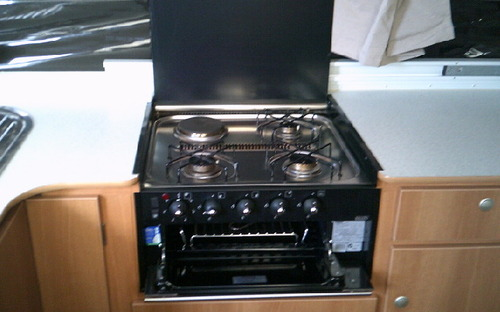 Jayco Flamingo Outback Wind Up Camper cooktop